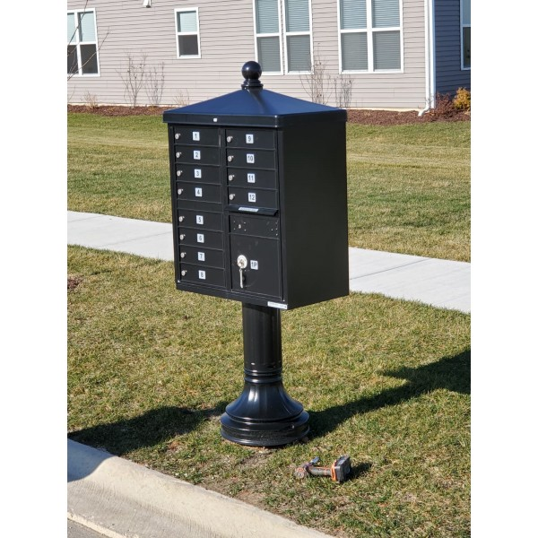 Custom Spindigger Cluster Box Unit (CBU) Mailbox Solution